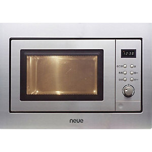 Neue Wall Mounted Microwave With Push Button Rotary Control Stainless Steel Ne170 X