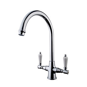 Benchmarx Riom Monobloc Kitchen Sink Mixer Tap Chrome
