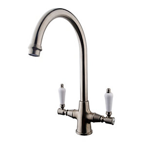 Riom Monobloc Sink Mixer Brushed Nickel