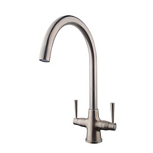 Talence Monobloc Sink Mixer Brushed Nickel