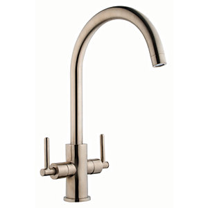 iflo Malanda Brushed Steel Monobloc Kitchen Tap