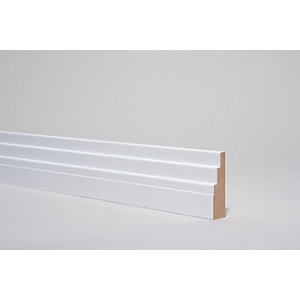 Architrave Art Deco White 4400 mm x 80 mm x 22 mm