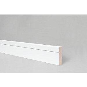 Contemporary Rounded V Groove Architrave 18mm x 68mm x 4400mm