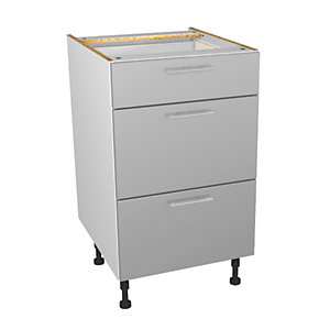 Self Assembly Orlando Grey 500 4 Drawer Base