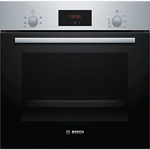 Bosch Serie 2 Built in Single Oven with 3D Hot Air Stainless Steel HHF113BR0B