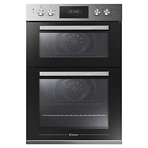 Candy Built In Double Oven With 110L Capacity And 12 Cooking Functions Stainless Steel Fct9D815 X