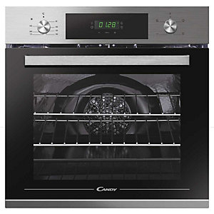 Candy Single Fan Oven With Full Led Programmer Stainless Steel Fct 405 X