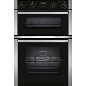 NEFF Built-in Double Oven with Circotherm Stainless Steel/Black U1ACE5HN0B