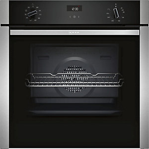 NEFF Fixed Slide & Hide Single Multifunction Oven with Circotherm Stainless Steel B3ACE4HN0B