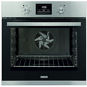 Zanussi Single Multifunction Oven Stainless Steel Black 70L ZOA35471XK