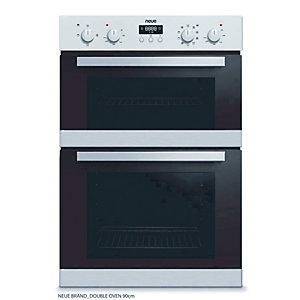 neue Built In Double Oven Stainless Steel Black BID02SS