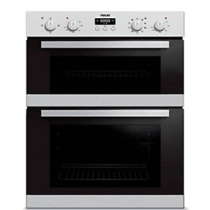 neue Built Under Double Oven Stainless Steel Black BUD02SS