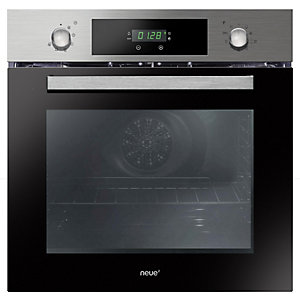 neue Integrated Single Pyrolytic Multi Function Oven Stainless Steel - FNPK606X