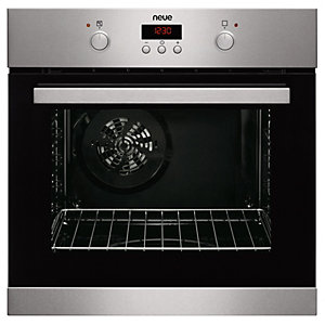 neue Pyrolytic Single Oven with 9 Cooking Functions Stainless Steel SPO1SS
