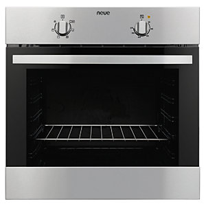 neue Single Conventional Oven Stainless Steel Black SCO1SS