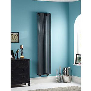 Oxfordshire Vertical Gun Metal Radiator 1800mm x 465mm