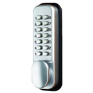 Digital Push Button with Holdback Lock Satin TP998766
