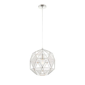 Endon Hex Pendant Light Chrome Plated