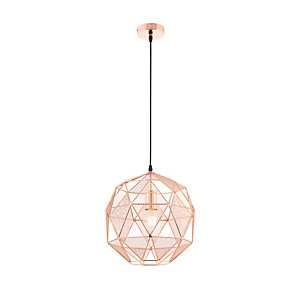 Endon Hex Pendant Light Copper