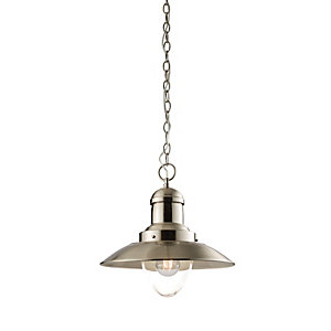 Endon Lampada Pendant Light Satin Nickel