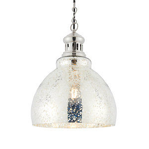 Endon Vaso Pendant Light Mottled Mercury Glass