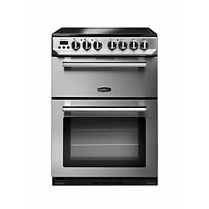 Rangemaster Professional Plus Ceramic Cooker 60 cm Stainless Steel with Chrome Trim