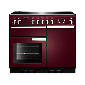 Rangemaster Professional Plus Induction Range Cooker 100 cm Cranberry with Chrome Trim
