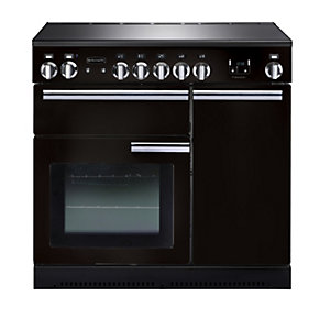 Rangemaster Professional Plus Induction Range Cooker 90 cm Black with Chrome Trim