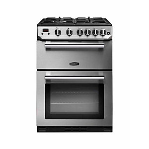 Rangemaster Professional Plus Natural Gas Cooker 60 cm Stainless Steel with Chrome Trim