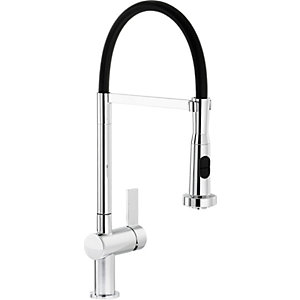 Abode Ophelia Single Lever PO Spray Tap Chrome and Black