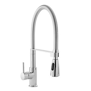 Albi Tight Coil Sink Mixer Chrome