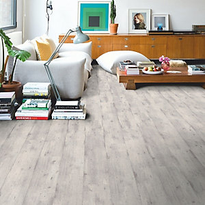 Quick Step Impressive Concrete Wood Light Grey Laminate Flooring 1380 x 190 x 8mm Pack Size 1.835m2