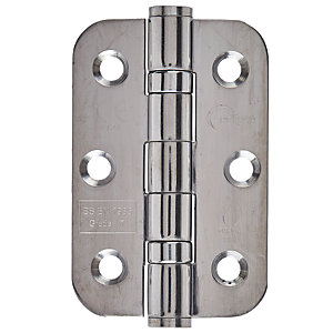 Eclipse 3Inch Radius Corner Hinge - Ball Bearing (76mm) CE Polished Stainless