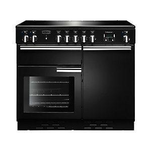 Rangemaster Professional Plus Induction Range Cooker 100 cm Black with Chrome Trim
