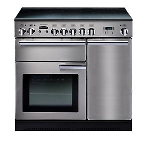 Rangemaster Professional Plus Induction Range Cooker Stainless Steel with Chrome Trim 90cm