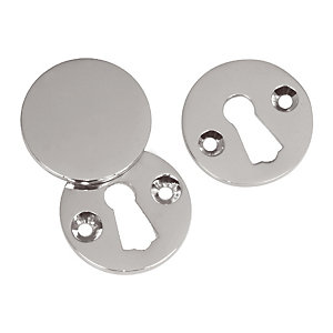 4Trade Covered Escutcheon Pack of 2 Satin Nickel