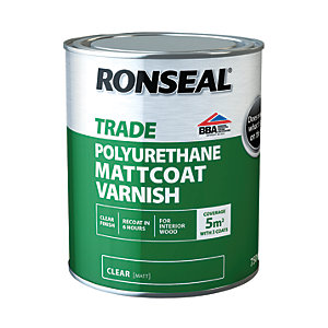 Ronseal PU Varnish, Matt - 750ml