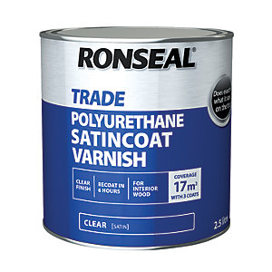 Ronseal PU Varnish, Satin - 2.5L
