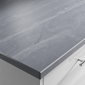 Apollo Slab Tech Breakfast Bar Marmo Mare Grey 2000mm x 900mm x 30mm
