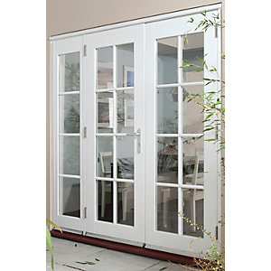 44mm French Doors Georgian With Side Lights (1 x 600) Softwood 8 Ft (2.4M)