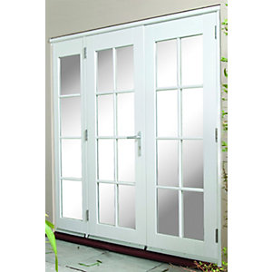 44mm French Doors Georgian With Side Lights (2 x 300) Softwood 8 Ft (2.4M)