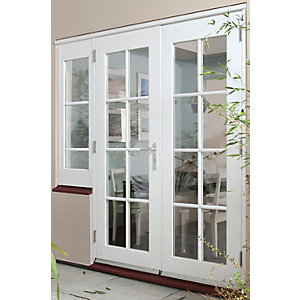 44mm French Doors Pattern 10 With Side Light (1 x 600) Softwood 8 Ft (2.4M)