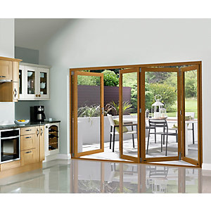 External 54mm Folding Doors Prefinished Solid Oak 10 Ft (3M)