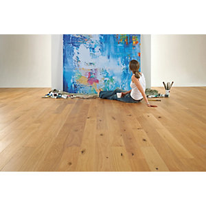 Elka Solid Wood Rustic Lacquered Flooring Solid Oak 130mm x 18mm