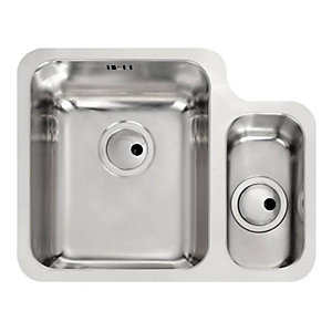 Abode Matrix R50 1.5 Bowl Stainless Steel Undermount Sink Left Hand Main Bowl