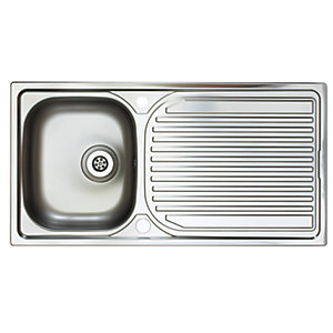 Astracast Aegean 1 Bowl Stainless Steel Inset Sink
