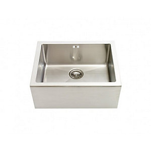 Astracast Contemporary Single Bowl Stainless Steel Belfast Sink Silver 600mm