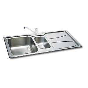 Carron Phoenix Zeta 1.5 Bowl Inset Stainless Steel Kitchen Sink