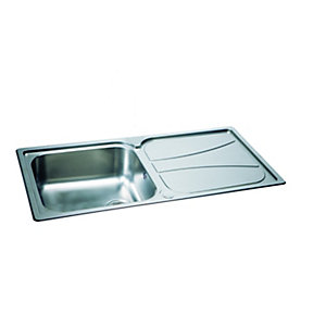 Carron Phoenix Zeta 1 Bowl Inset Stainless Steel Kitchen Sink