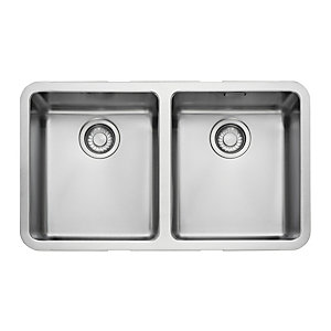 Franke Kubus Double Undermount Stainless Steel Sink